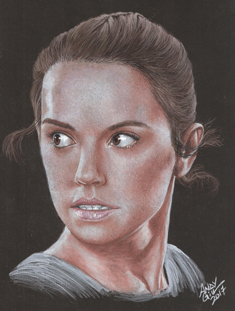 Portrait Of Daisy Ridley By AndyGill On Stars Portraits